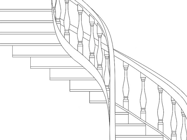 Desenho da escada do Museu da UFPA